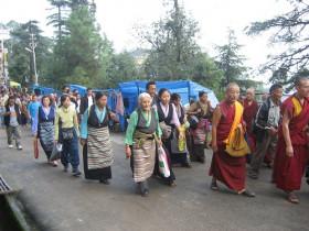 Demo gegen die Besetzung Tibets