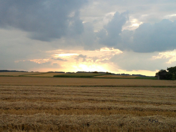 Sonnenuntergang in Geltendorf :)
