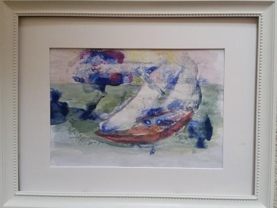 ein Seegelboot auf dem Meer