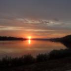Sonnenuntergang an der schönen Donau