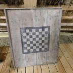 altes Holzschachbrett