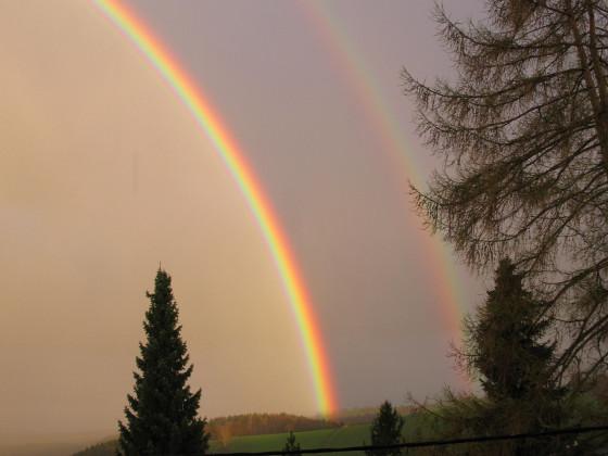 Doppelter Regenbogen