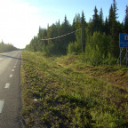 3_in Lappland auf der E10 am Abend